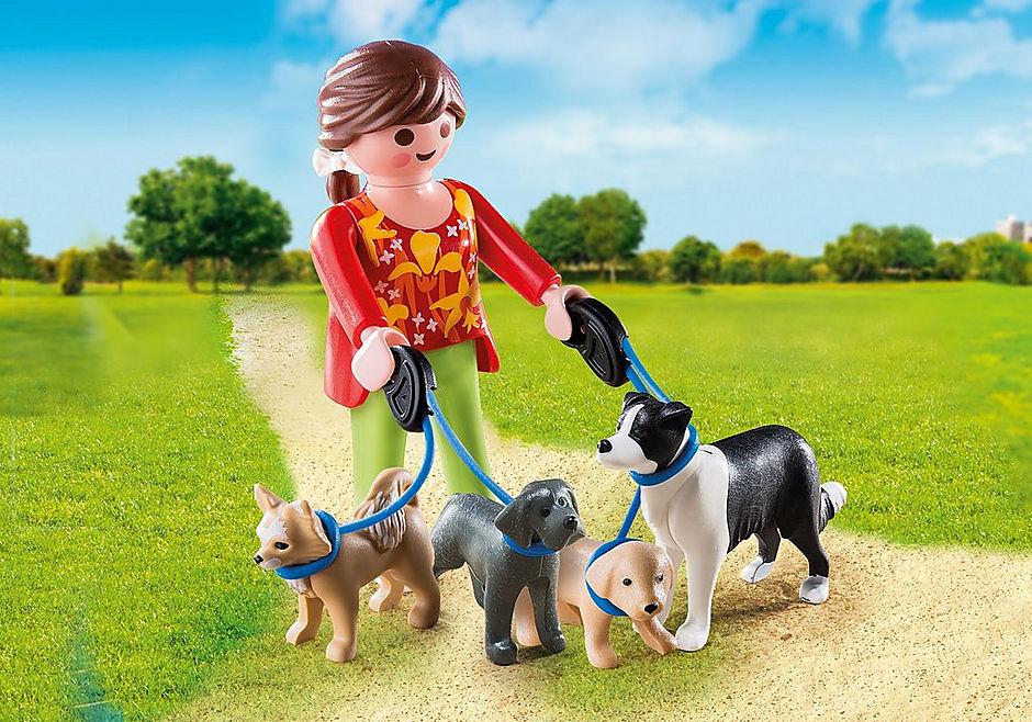 5380 Mujer con Perros detail image 1
