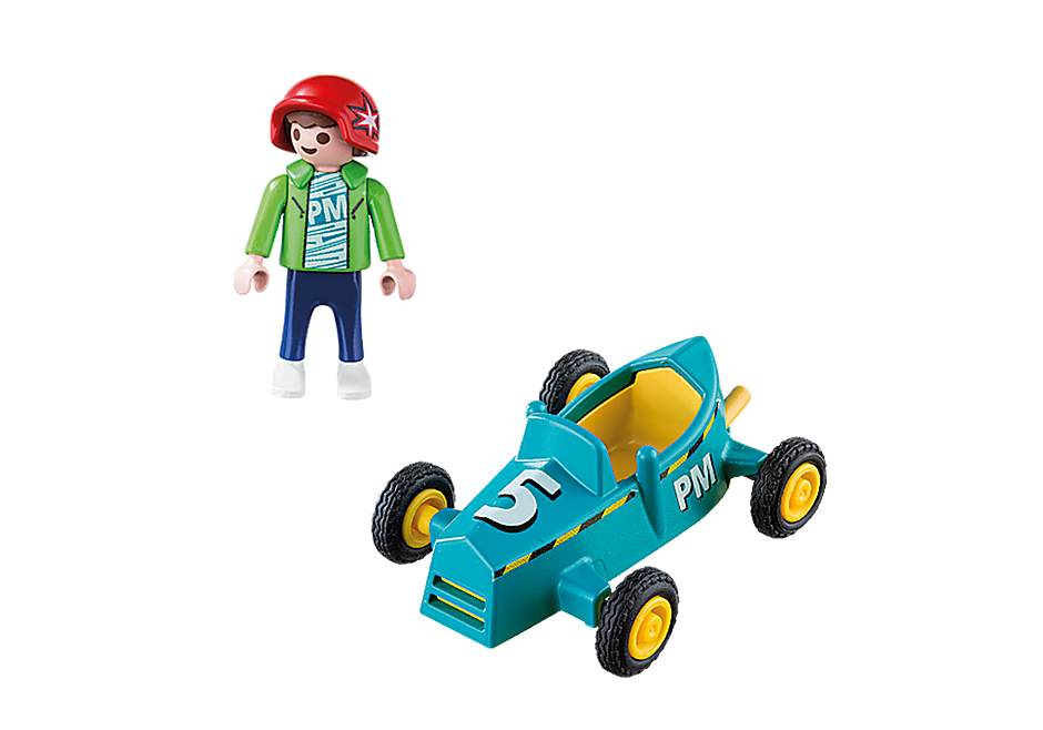 5382 Boy with Go-Kart detail image 3