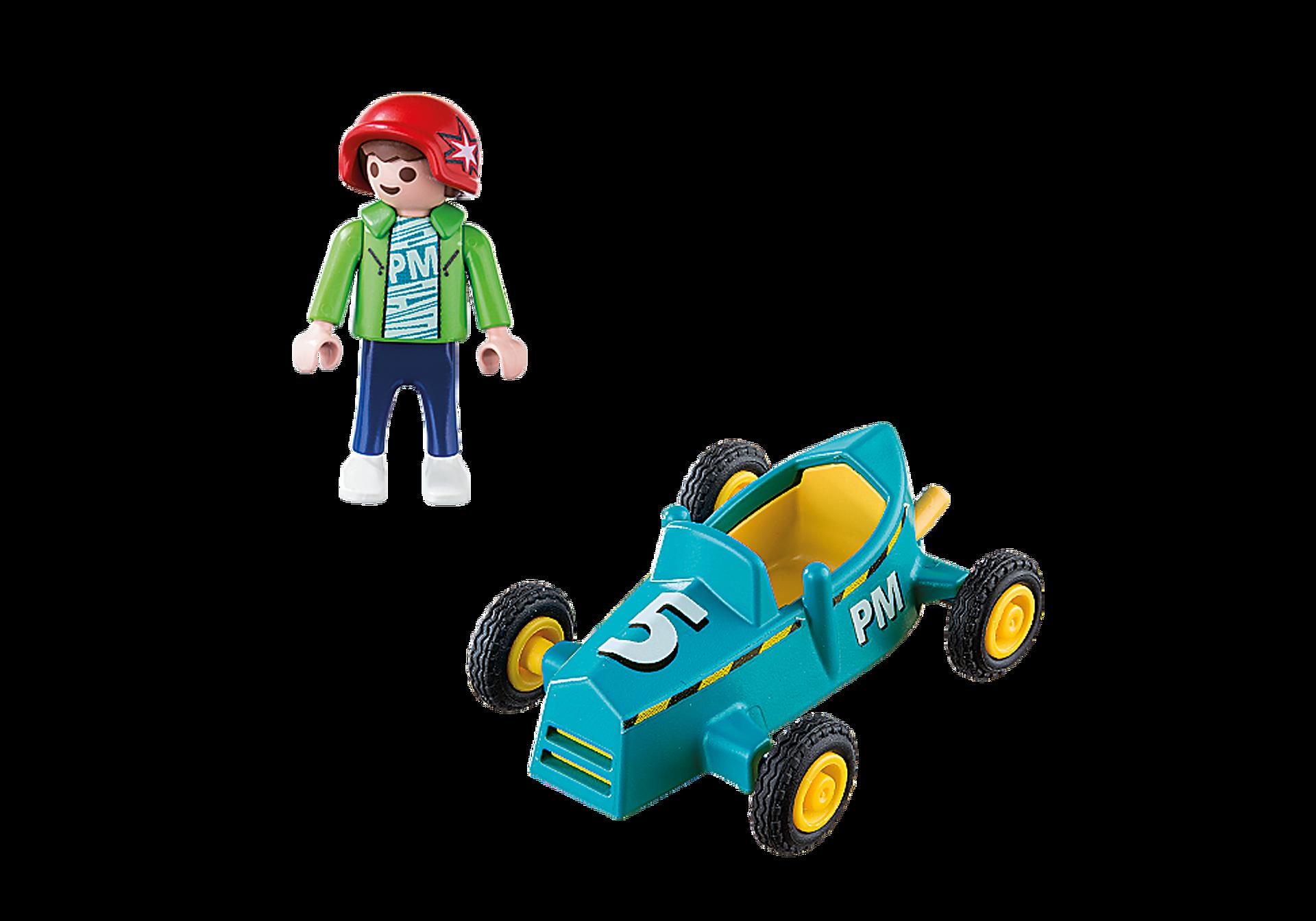 5382 Boy with Go-Kart zoom image3