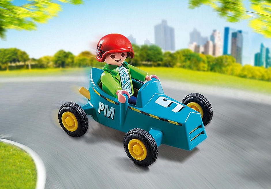 5382 Boy with Go-Kart detail image 1