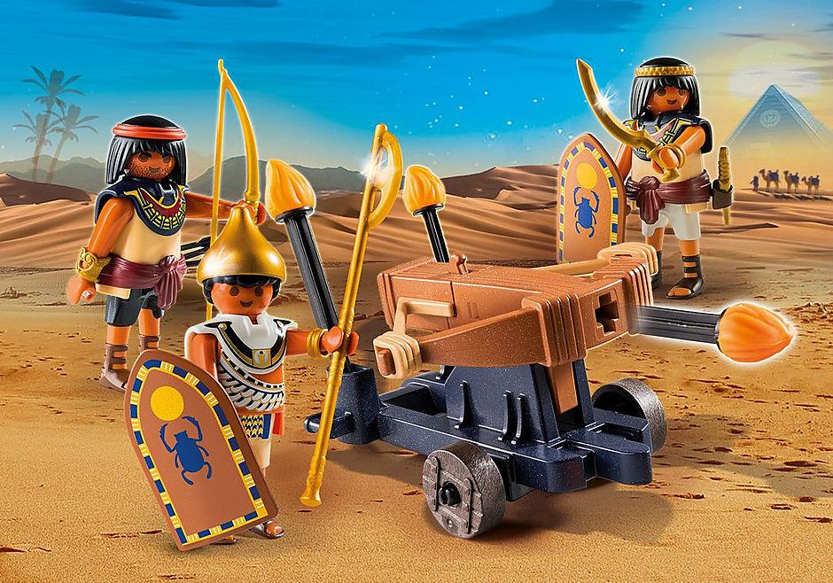 5388 Ägypter mit Feuerballiste detail image 1