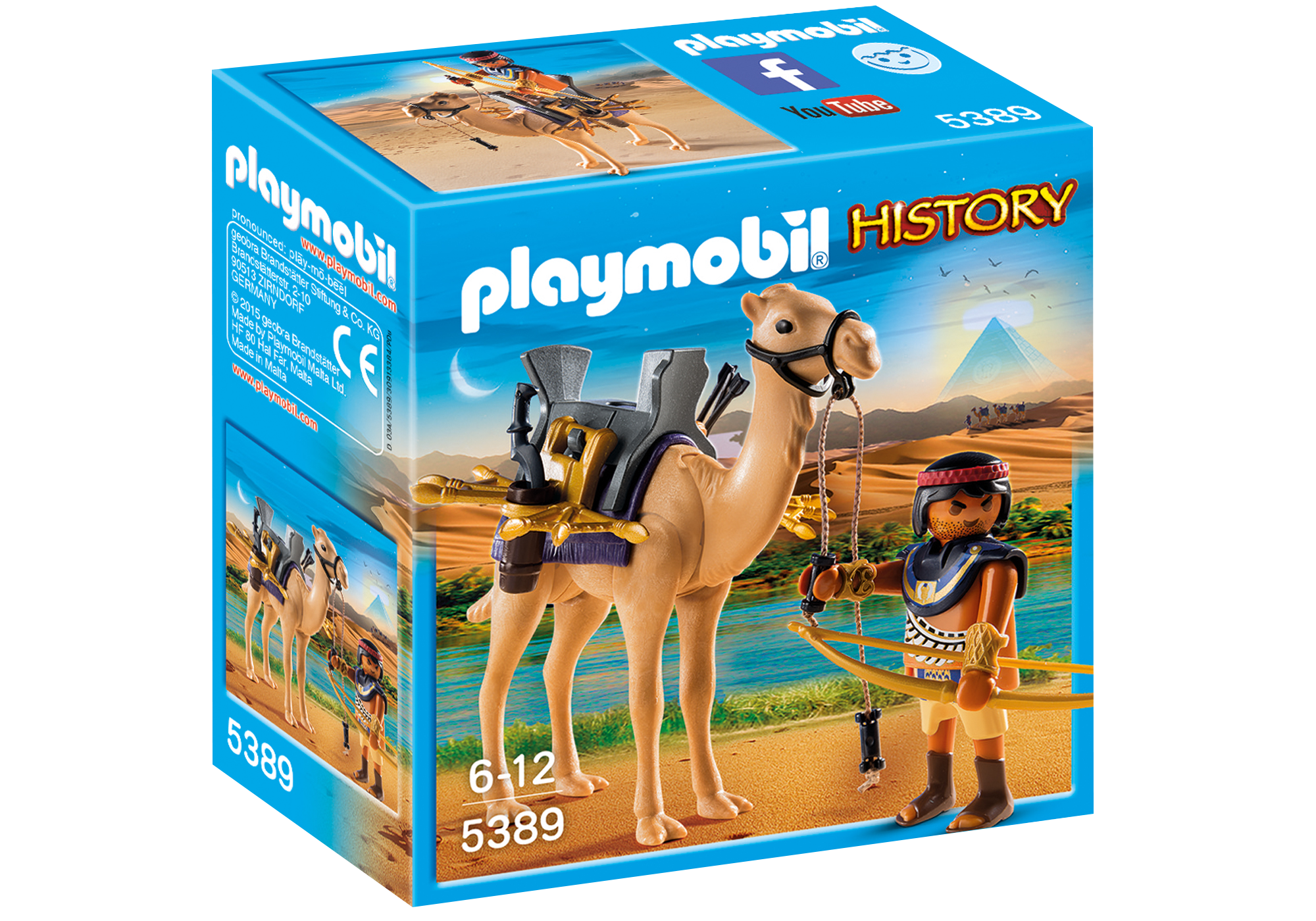 http://media.playmobil.com/i/playmobil/5389_product_box_front/Римляне и Египтяне: Египетский воин с верблюдом