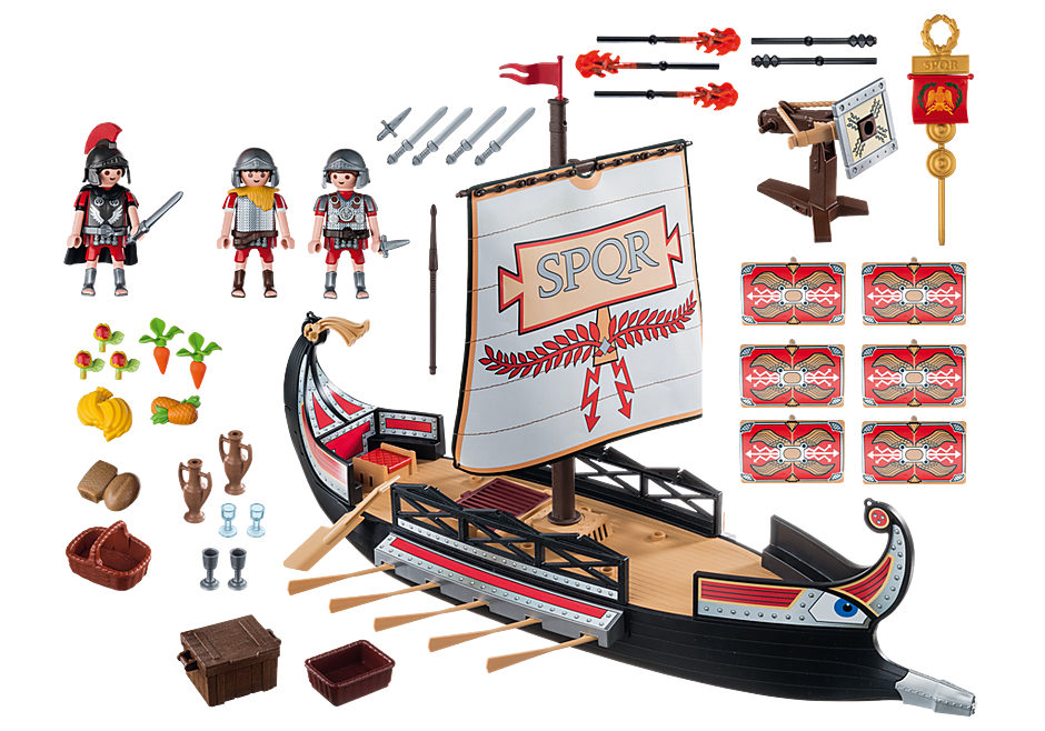 5390 Roman Warriors' Ship detail image 4