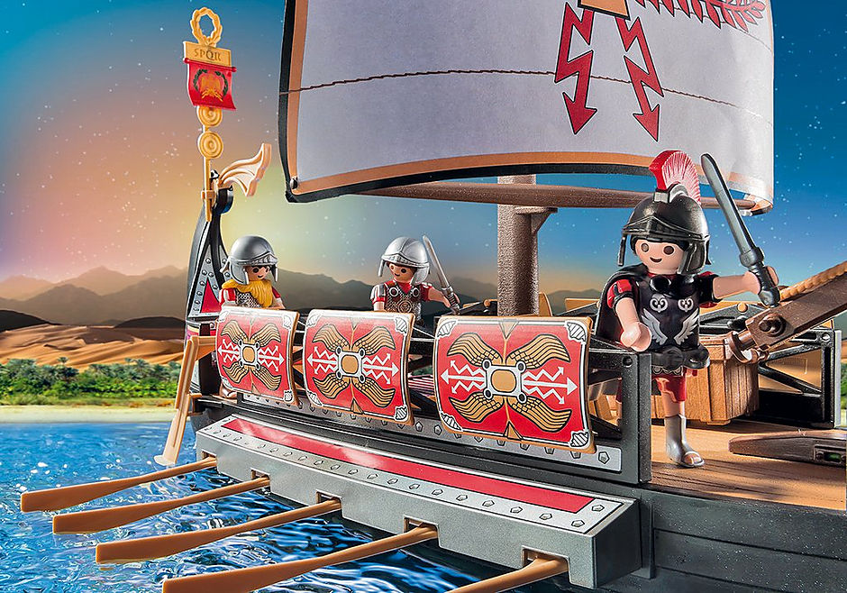 5390 Roman Warriors' Ship detail image 7