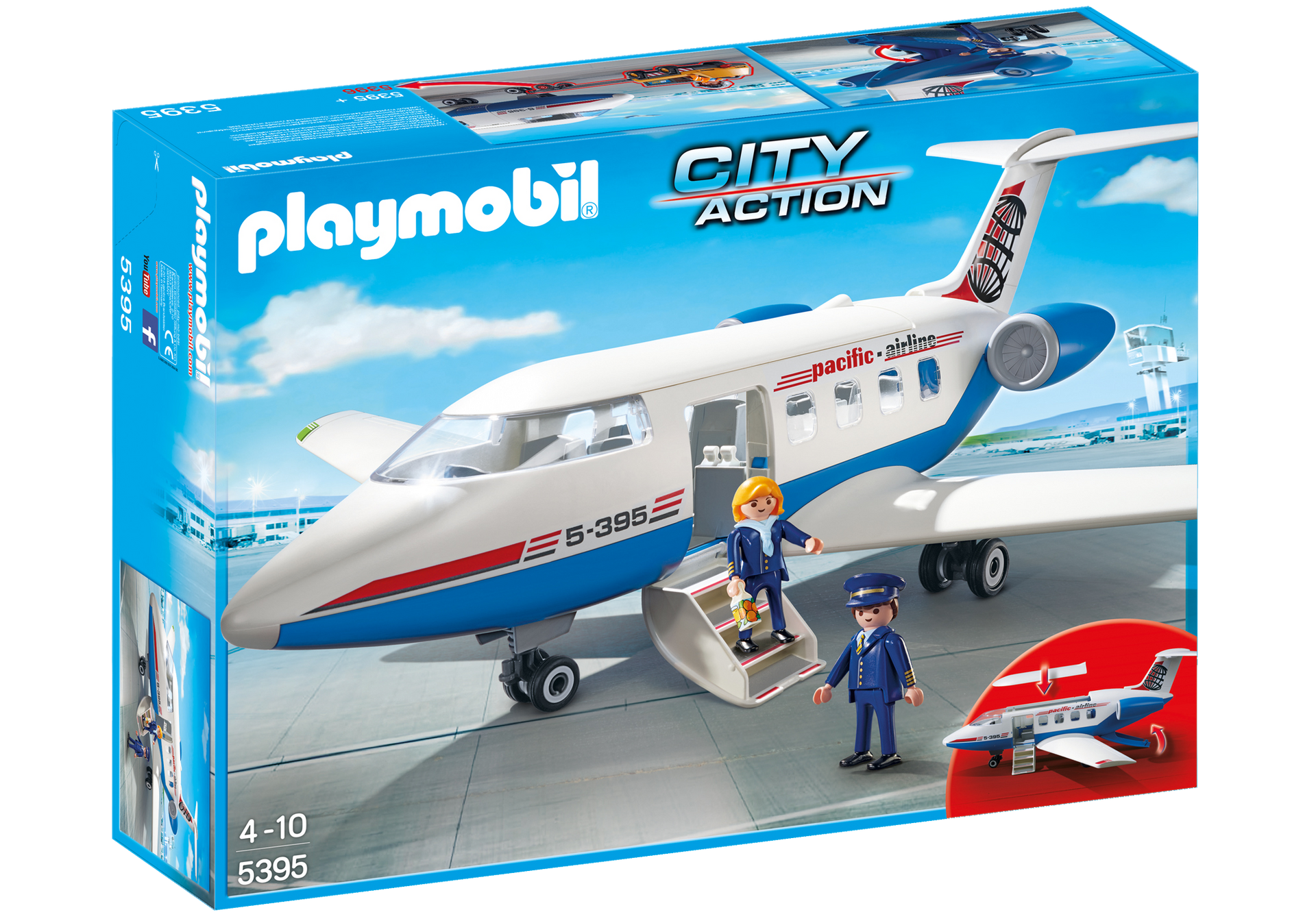 avion 5395 playmobil france. Black Bedroom Furniture Sets. Home Design Ideas