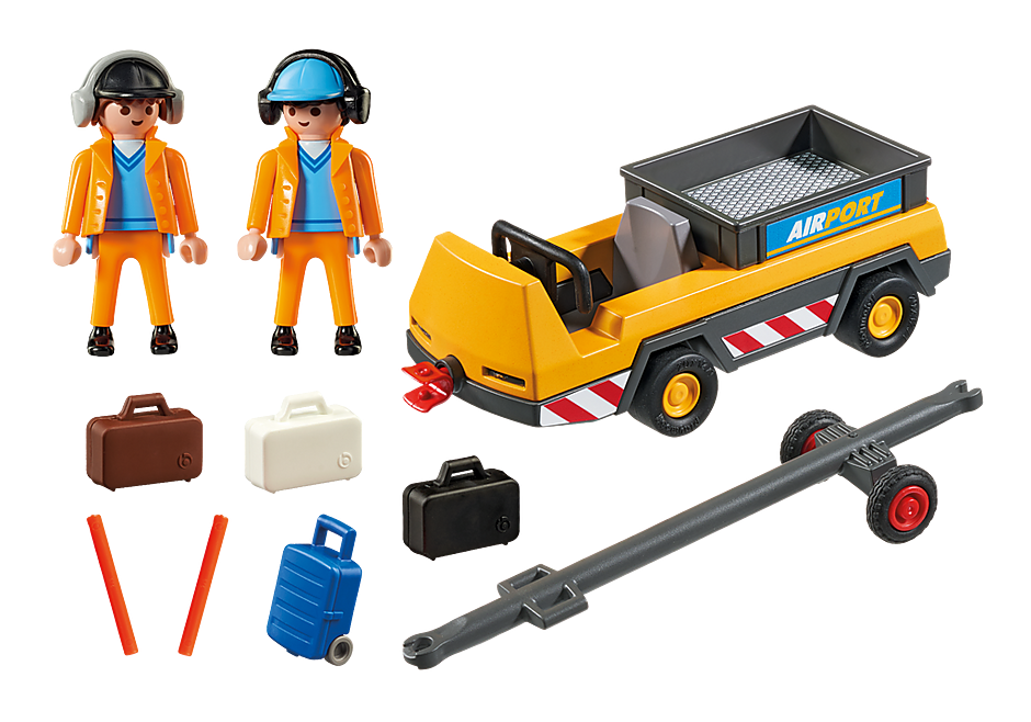 5396 Agents avec tracteur à bagages  detail image 4