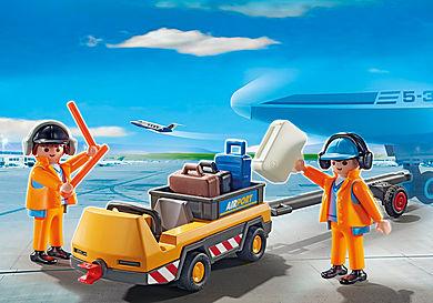 5396 Agents avec tracteur à bagages