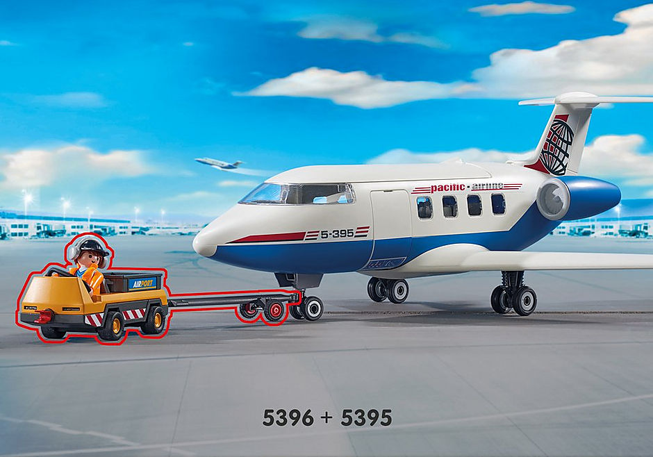 5396 Flygplanstraktor med markpersonal detail image 6