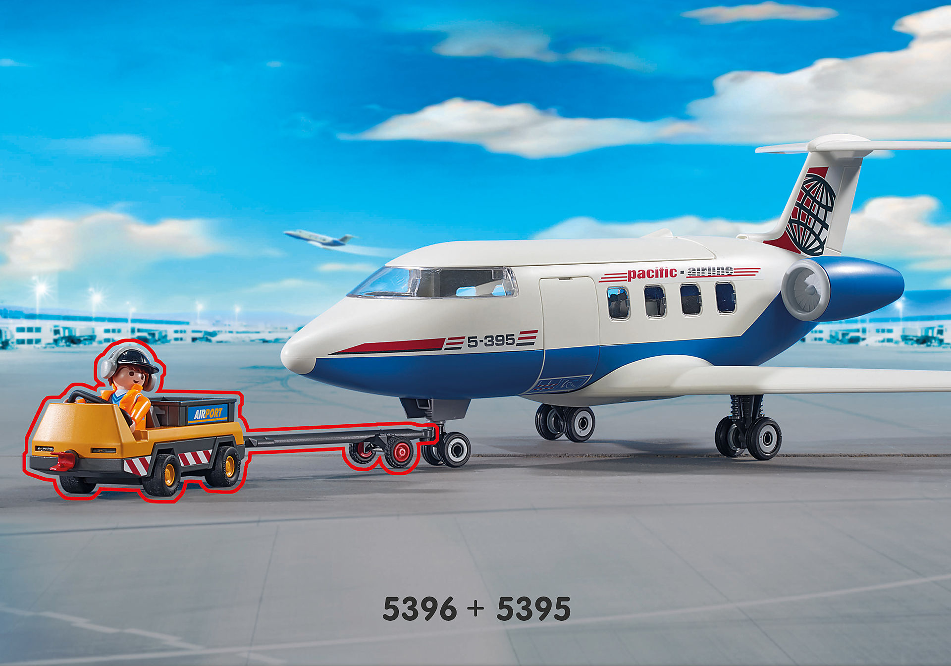 5396 Luchtverkeersleiders met bagagetransport zoom image6
