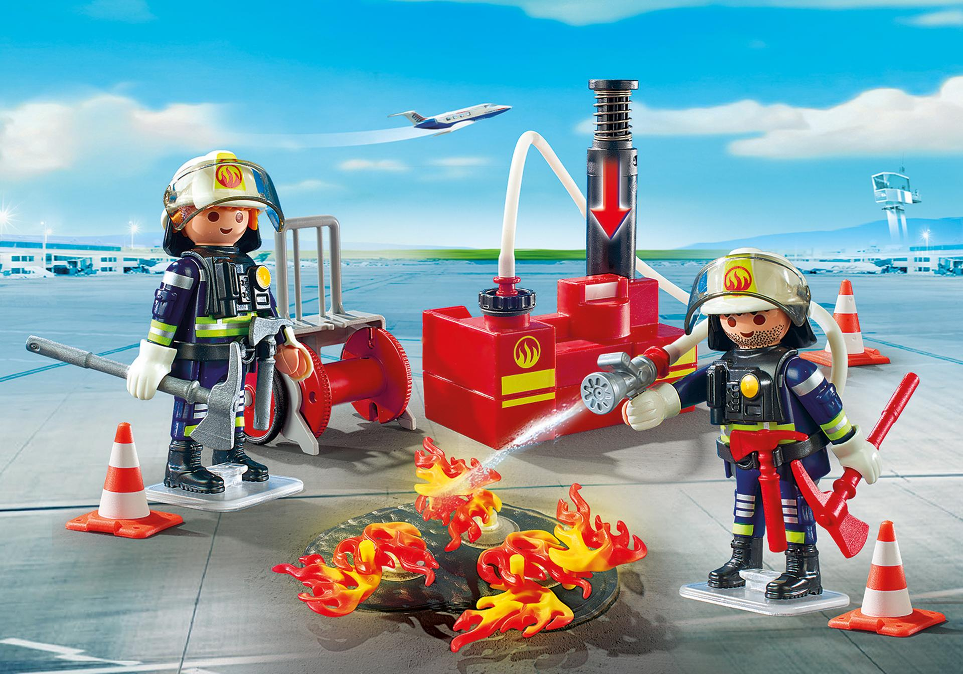pompiers avec mat riel d 39 incendie 5397 playmobil france. Black Bedroom Furniture Sets. Home Design Ideas