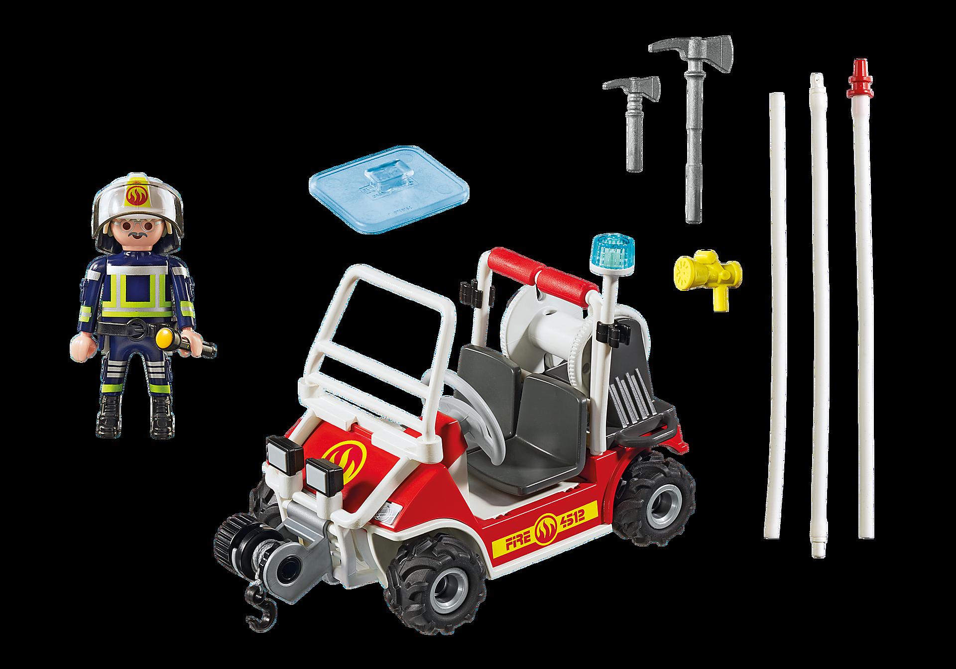 5398 Chef des pompiers avec voiturette zoom image4