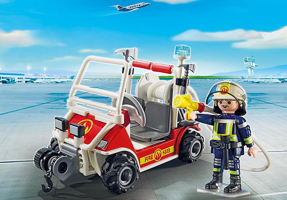 5398 Chef des pompiers avec voiturette detail image 1