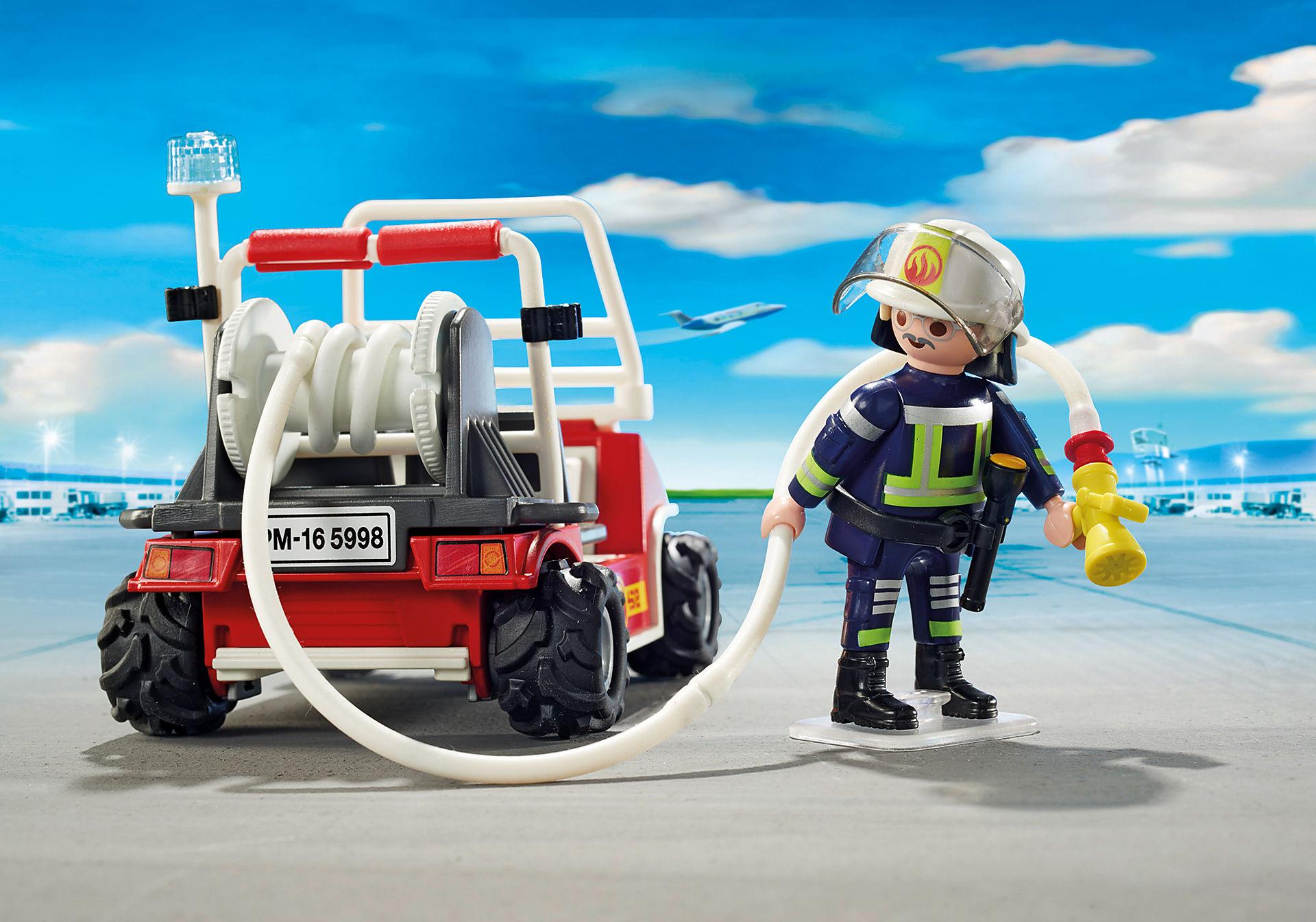 5398 Chef des pompiers avec voiturette zoom image5
