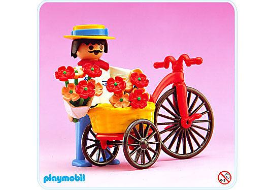 5400-A Radfahrer/Blumen detail image 1