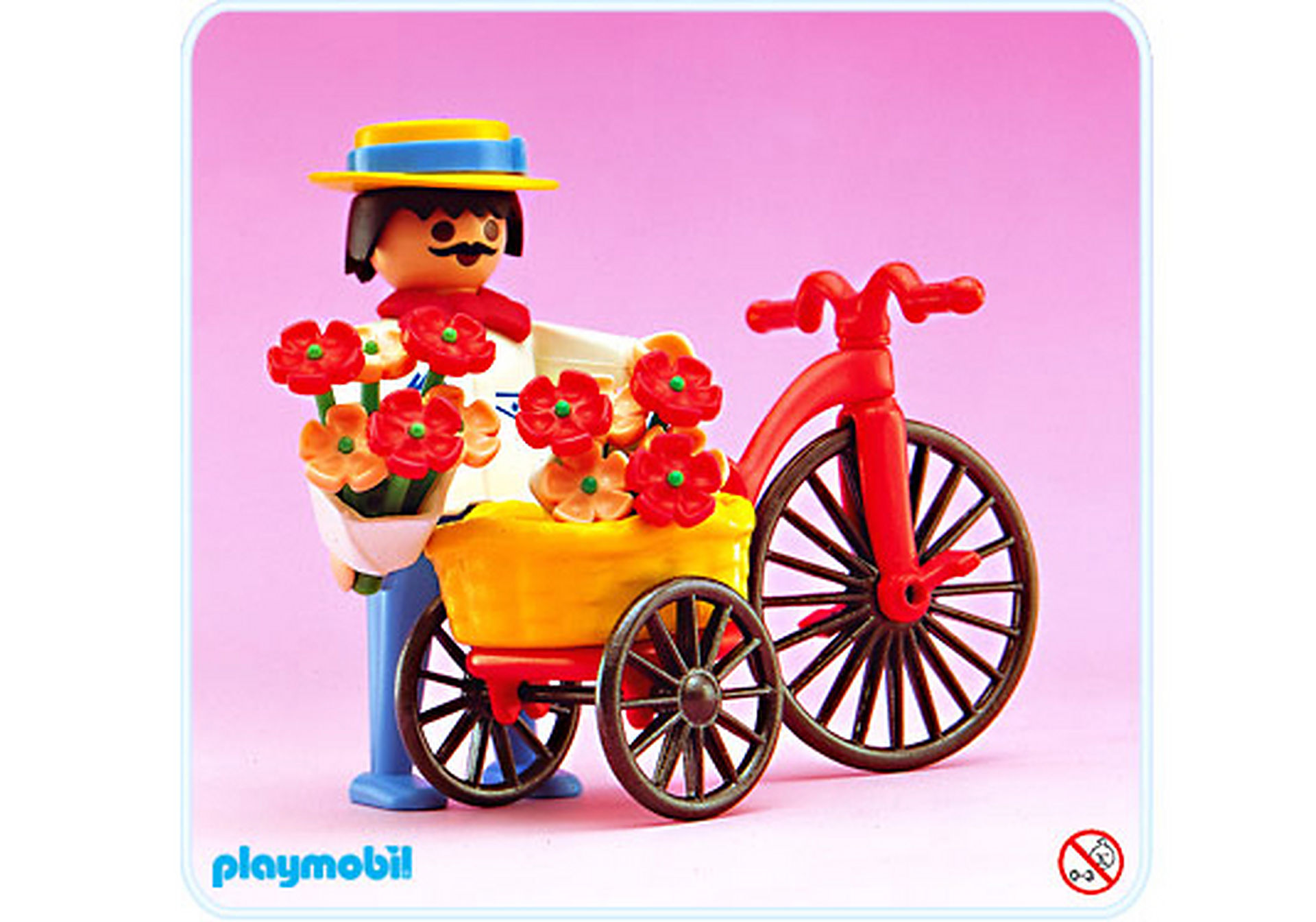 5400-A Radfahrer/Blumen zoom image1