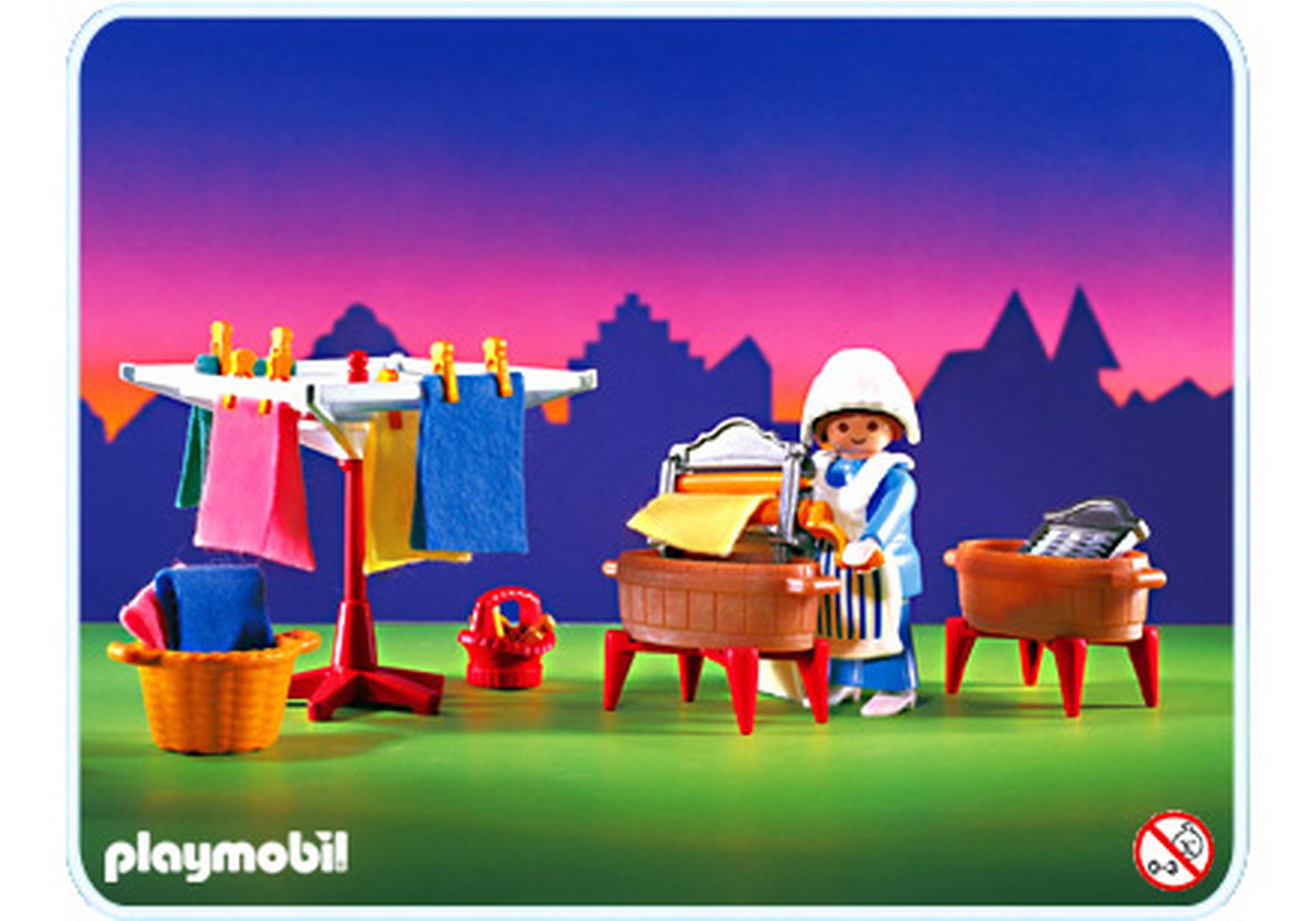 Ling re buanderie 5407 a playmobil france for Playmobil buanderie