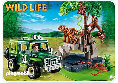 5416-A Geländewagen bei Tigern und Orang-Utans detail image 1