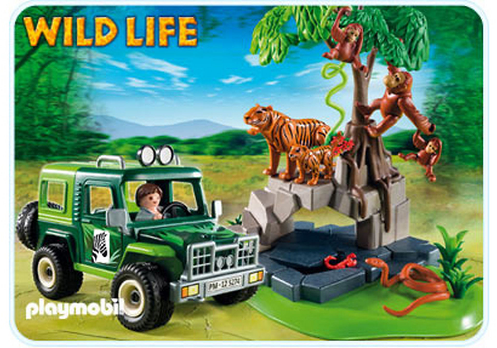5416-A Geländewagen bei Tigern und Orang-Utans zoom image1