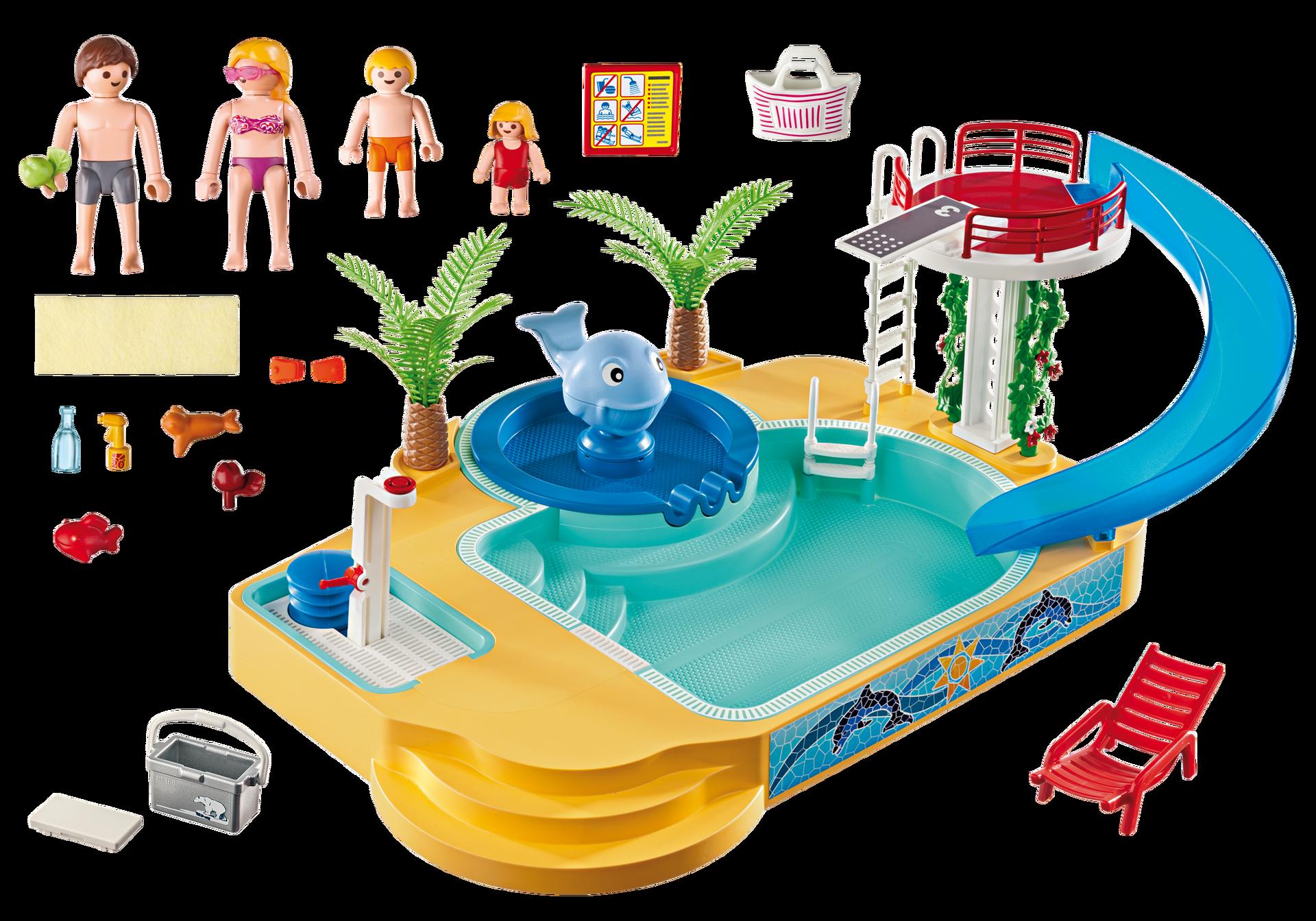 Piscina de los ni os con fuente de ballena 5433 for Piscina playmobil