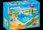 Famille avec piscine et plongeoir 5433 playmobil canada for Piscine playmobil 5433