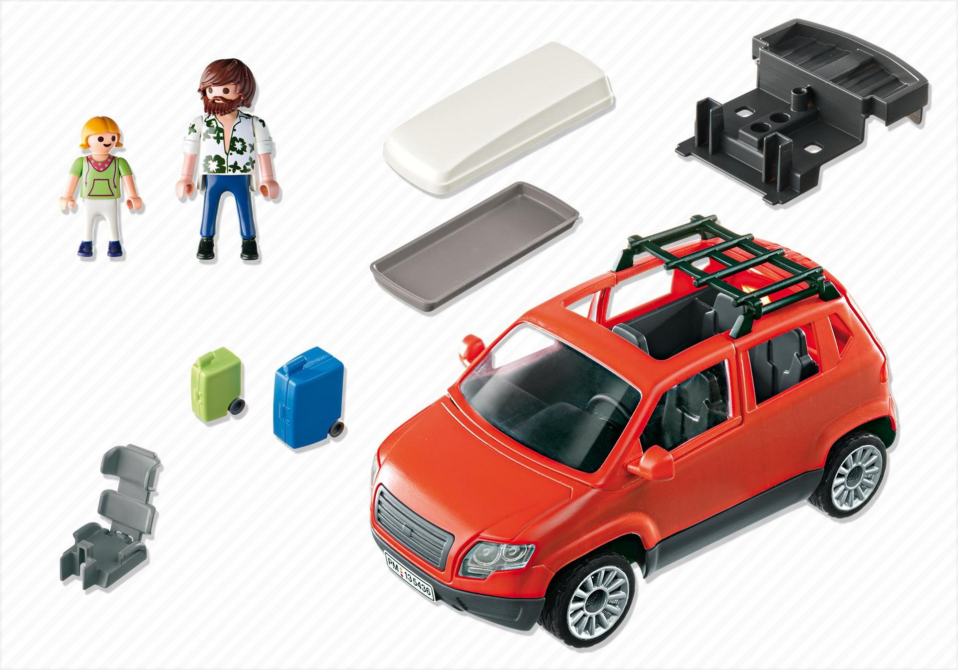 voiture avec coffre de toit 5436 playmobil france. Black Bedroom Furniture Sets. Home Design Ideas