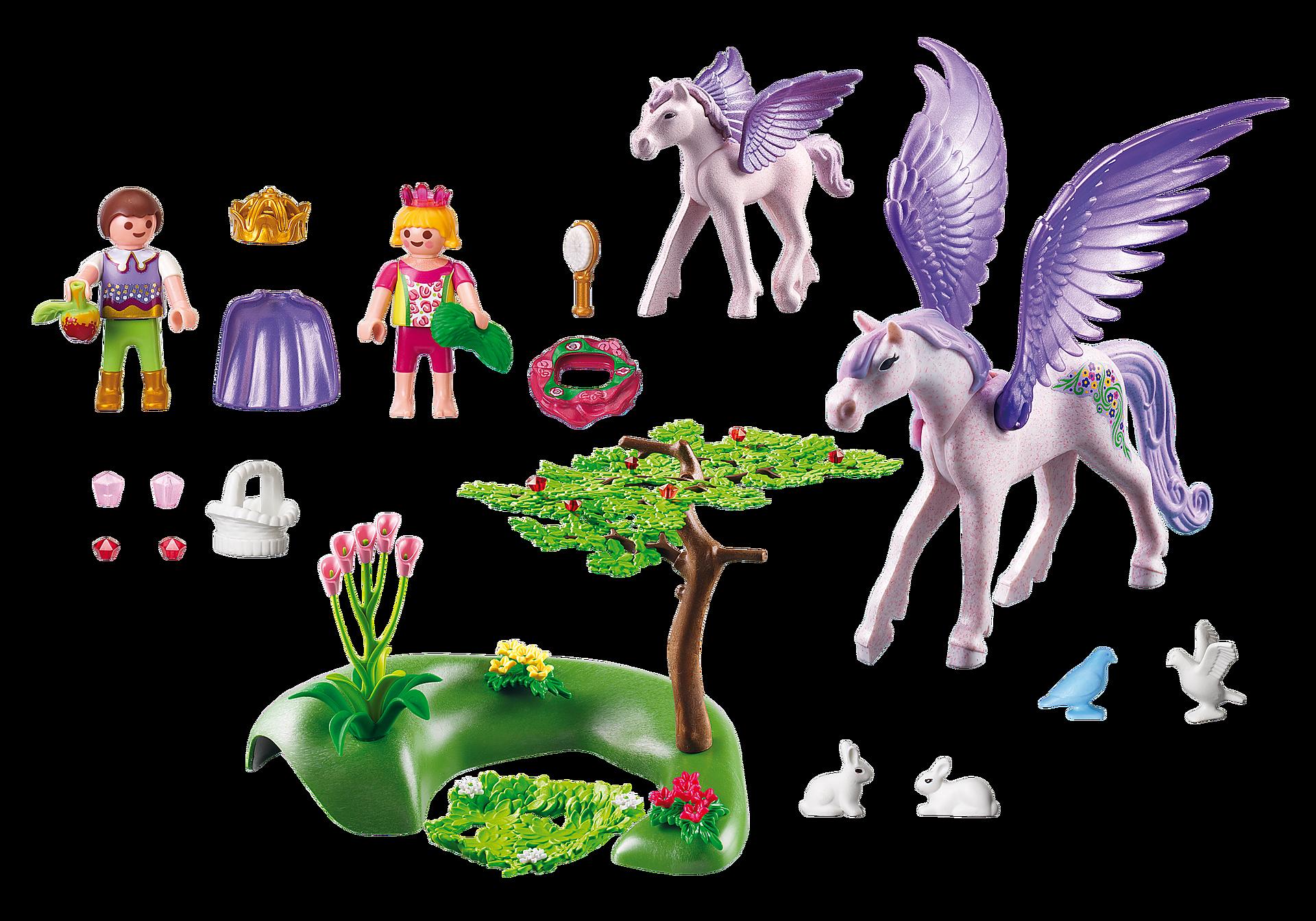 5478 Enfants royaux avec cheval ailé et son bébé zoom image3