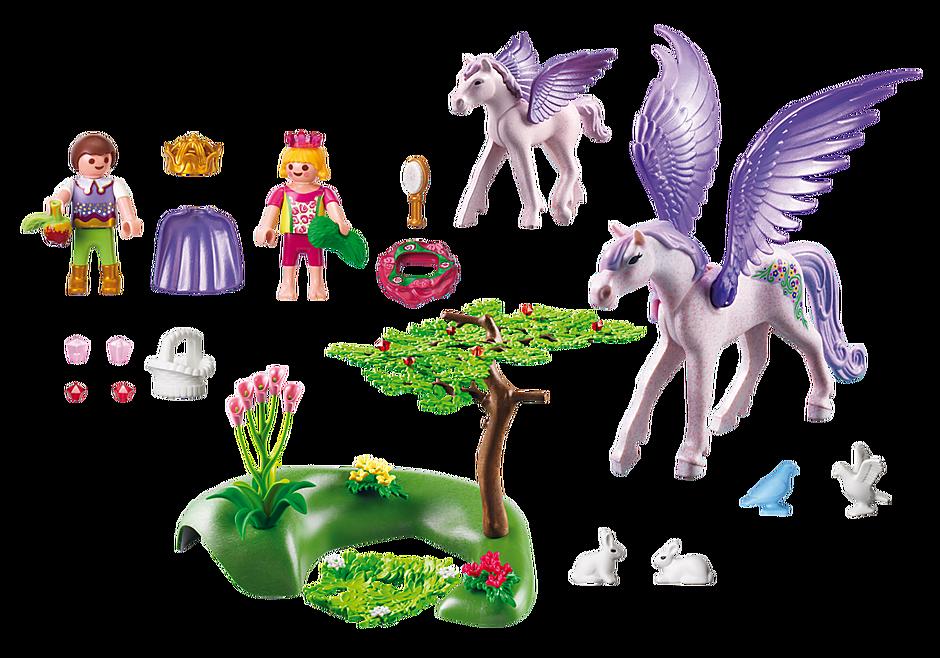 5478 Enfants royaux avec cheval ailé et son bébé detail image 3