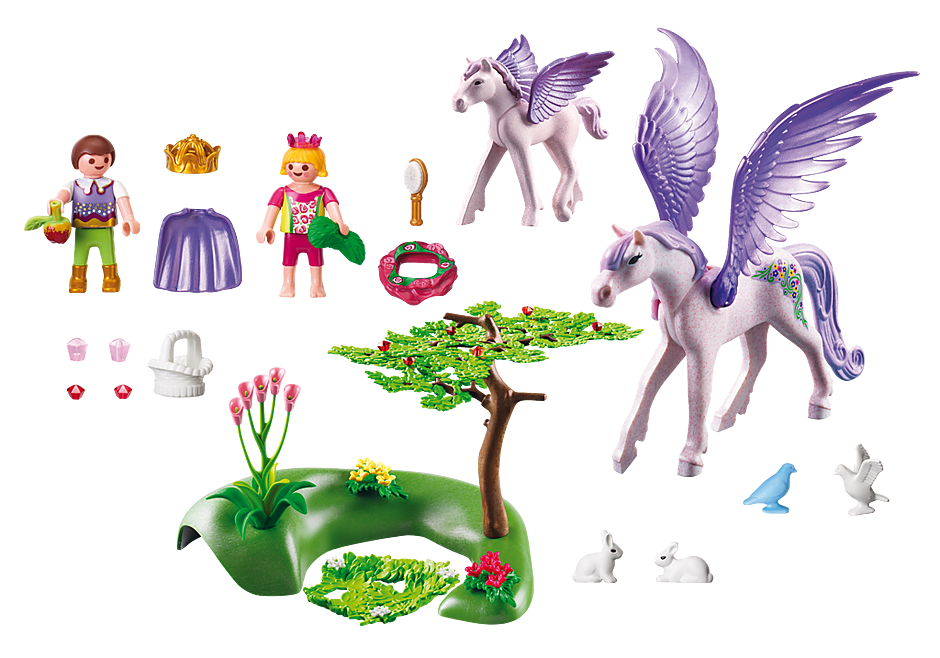 5478 Royal Children with Pegasus and Baby detail image 3