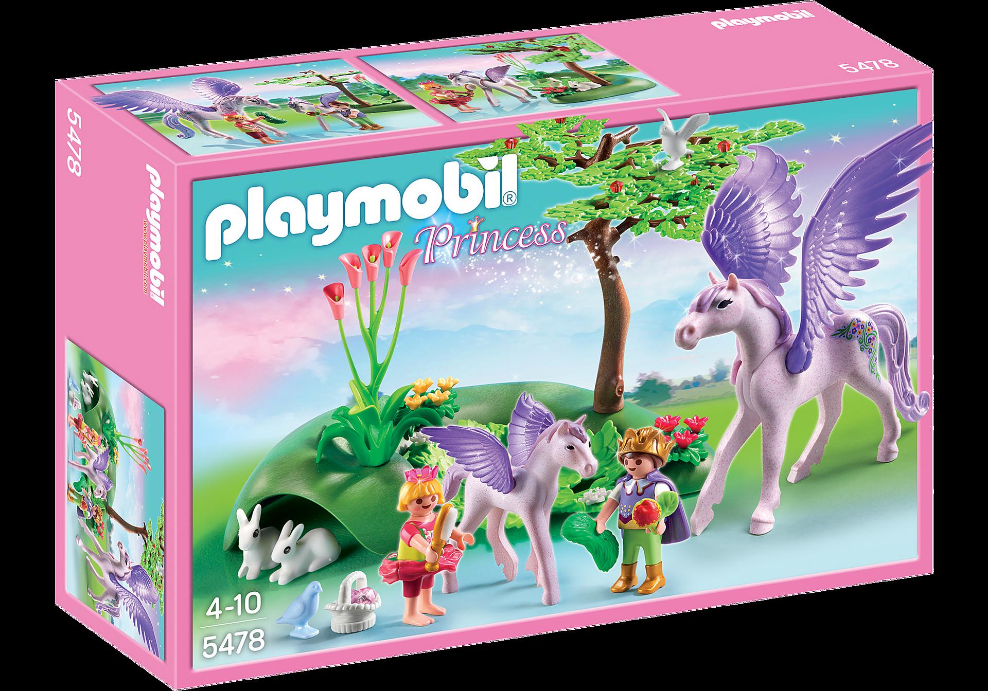 5478 Enfants royaux avec cheval ailé et son bébé zoom image2