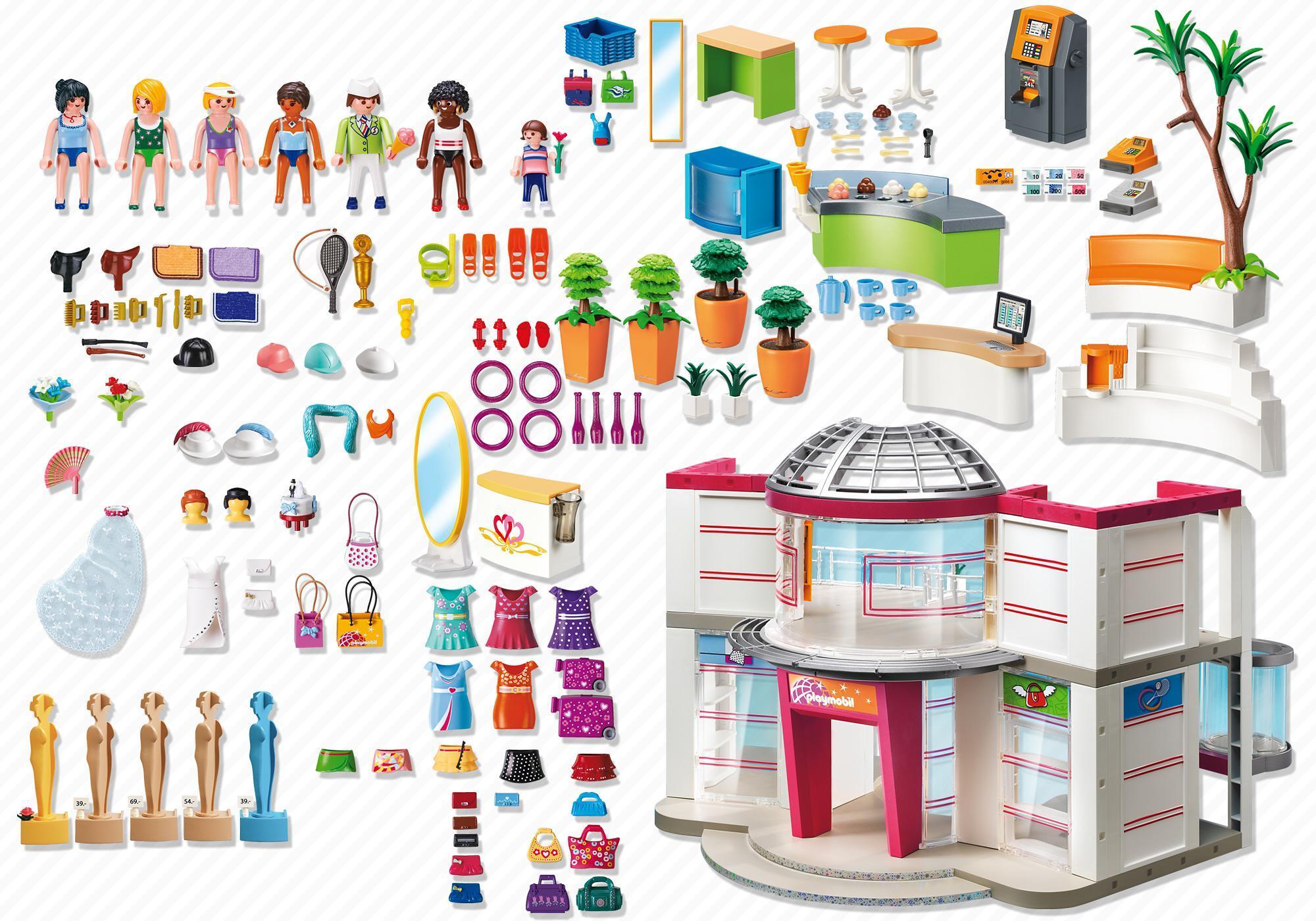 http://media.playmobil.com/i/playmobil/5485_product_box_back/Compleet ingericht Winkelcentrum