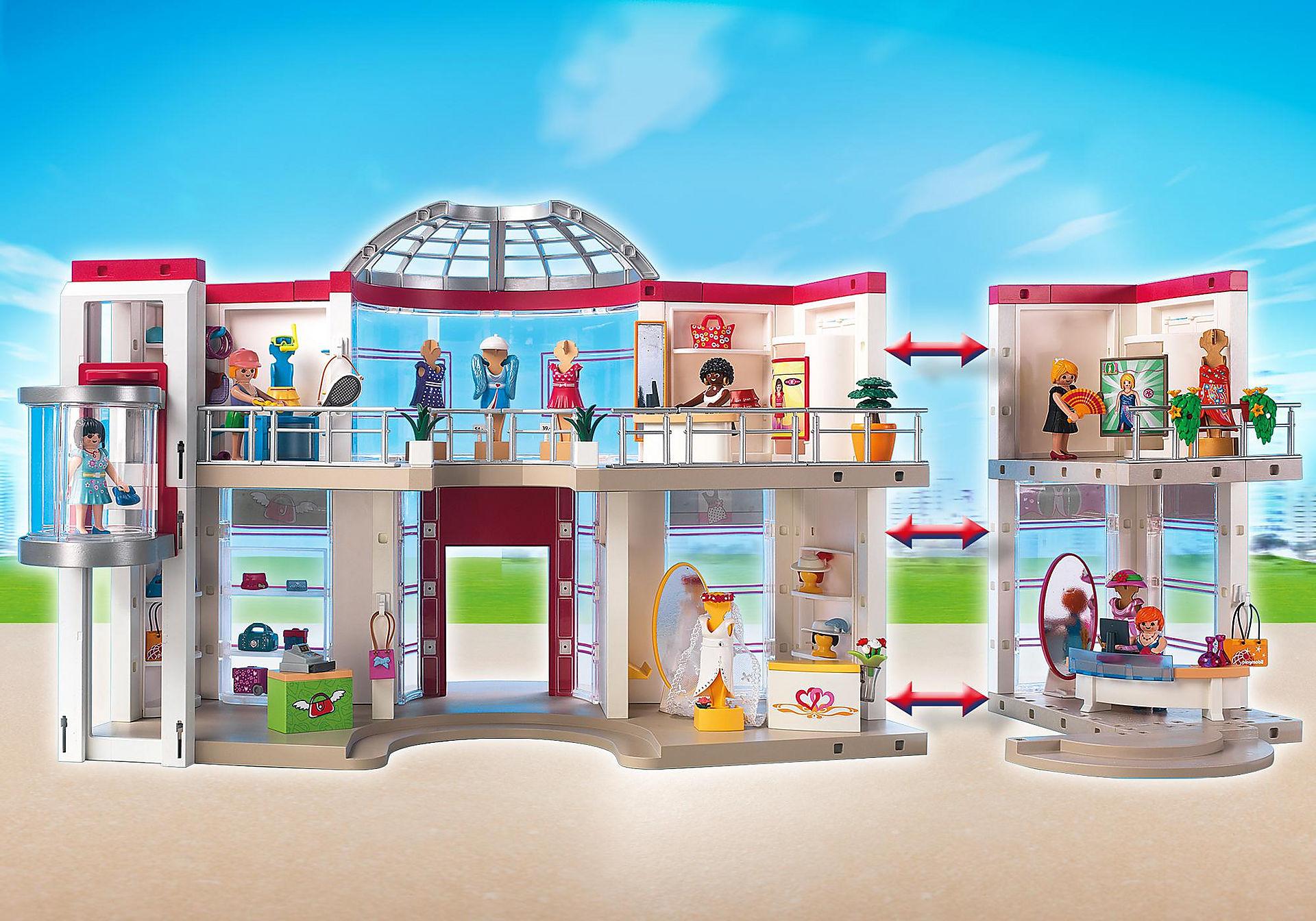 http://media.playmobil.com/i/playmobil/5485_product_extra6/Compleet ingericht Winkelcentrum