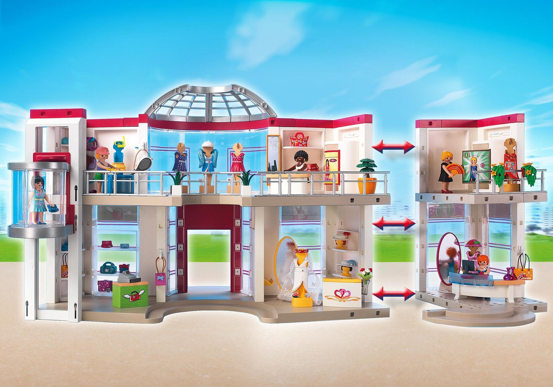 Grand magasin compl tement am nag 5485 playmobil france - Centre commercial pour la maison ...