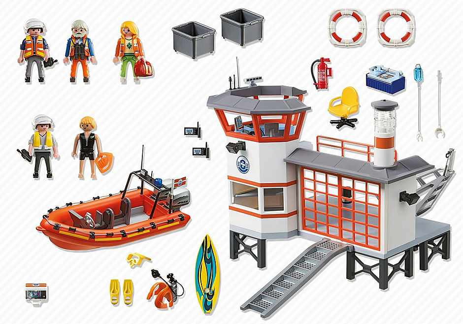 http://media.playmobil.com/i/playmobil/5539_product_box_back/Πλωτή βάση ακτ/κής με φάρο