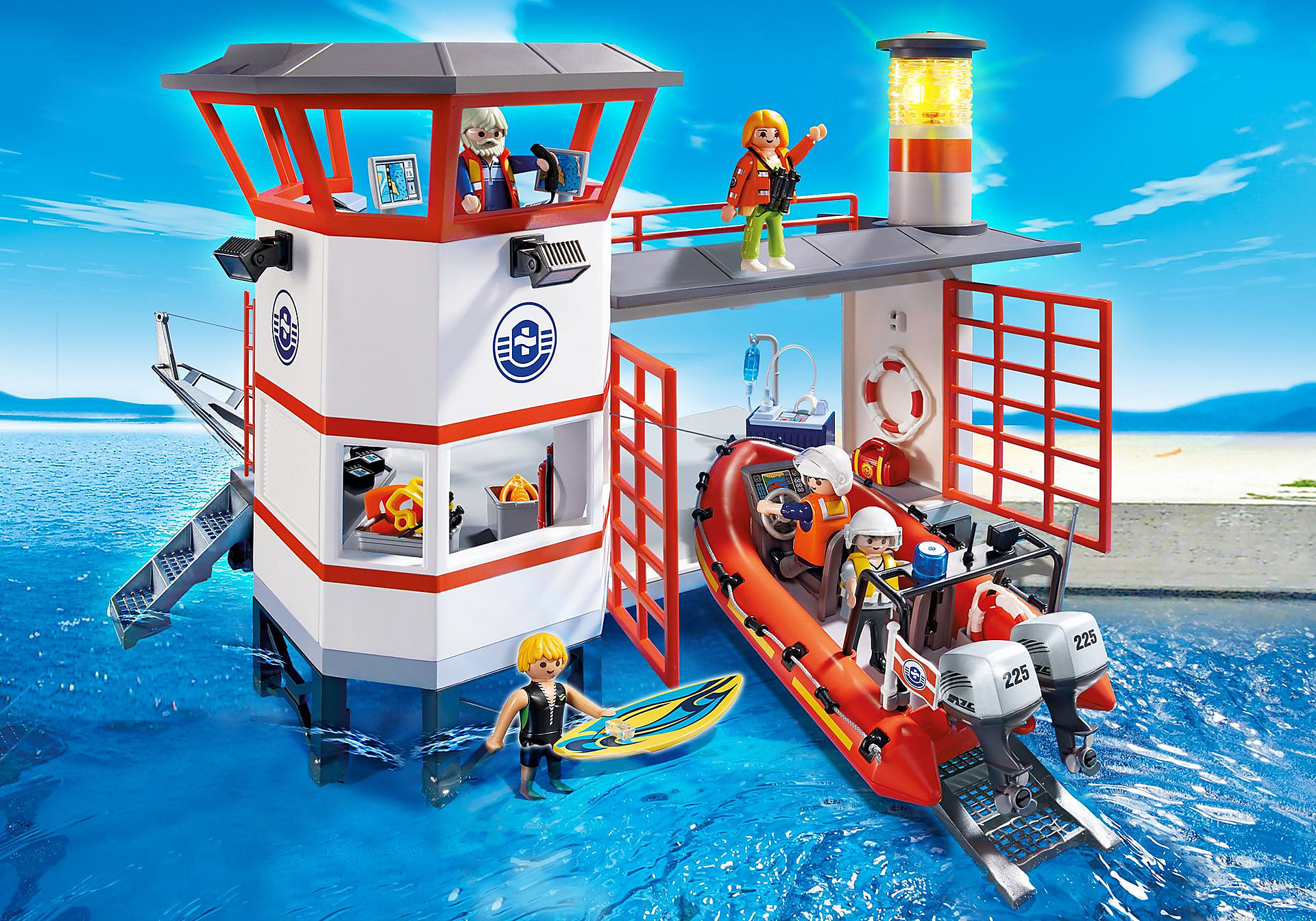 http://media.playmobil.com/i/playmobil/5539_product_detail/Πλωτή βάση ακτ/κής με φάρο