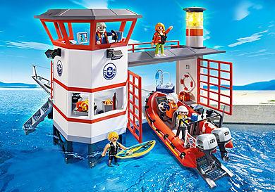 5539 Approdo della guardia costiera con faro
