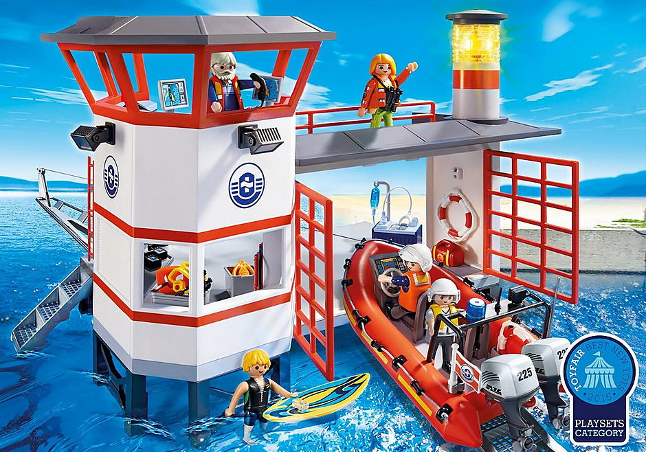 5539 Coast Guard Station with Lighthouse detail image 1