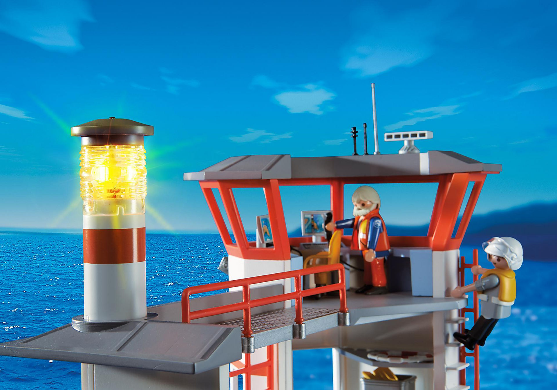 http://media.playmobil.com/i/playmobil/5539_product_extra4/Coast Guard Station with Lighthouse