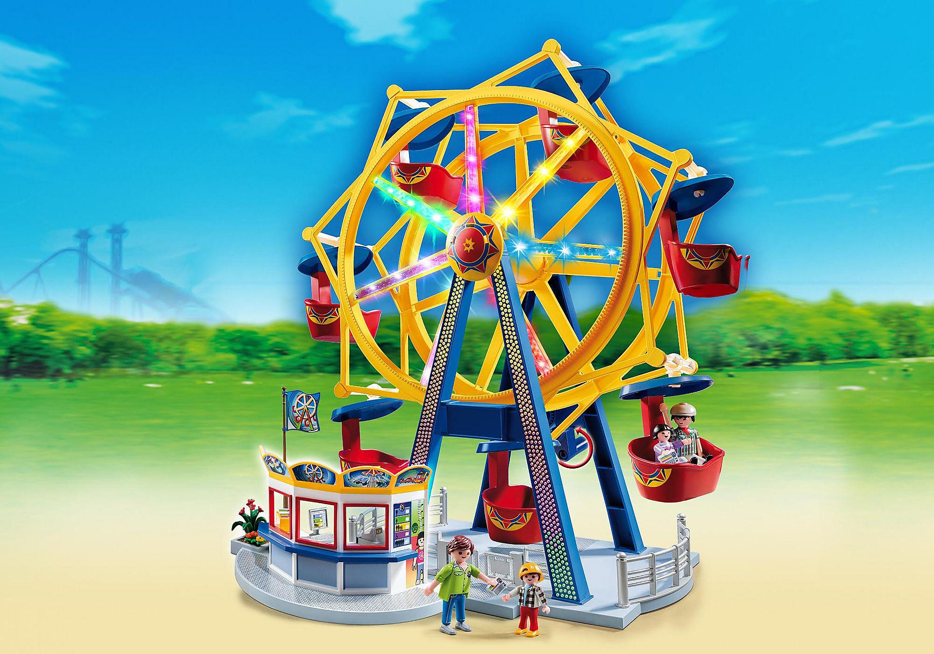 5552 Riesenrad mit bunter Beleuchtung zoom image1