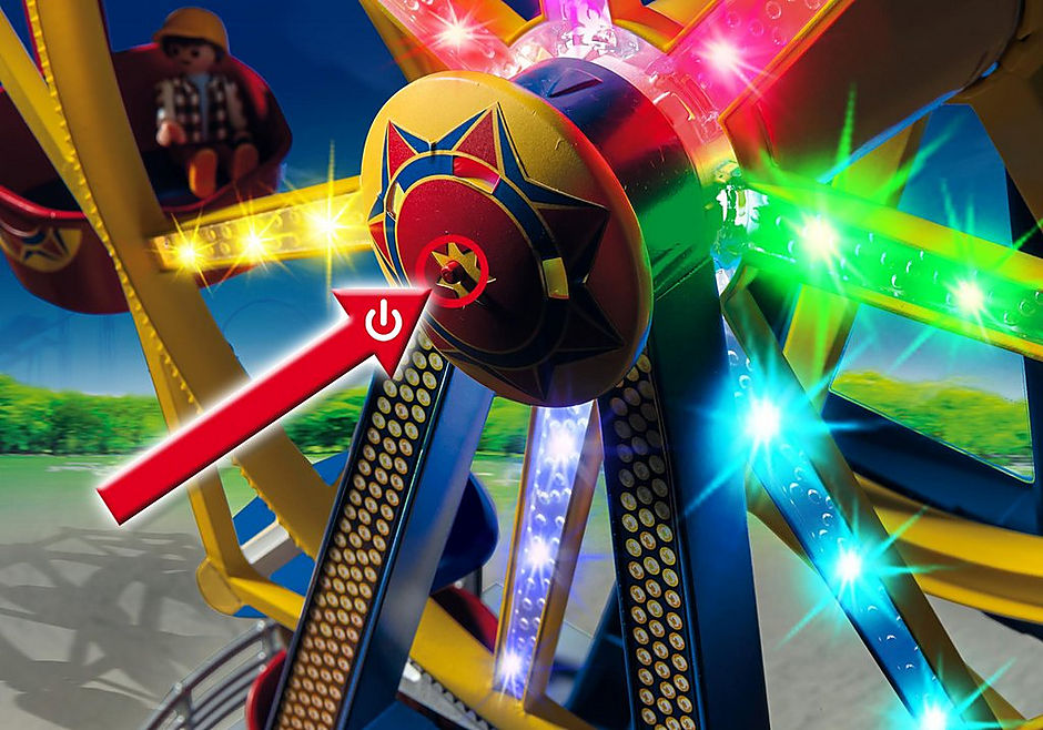 5552 Ferris Wheel with Lights detail image 5