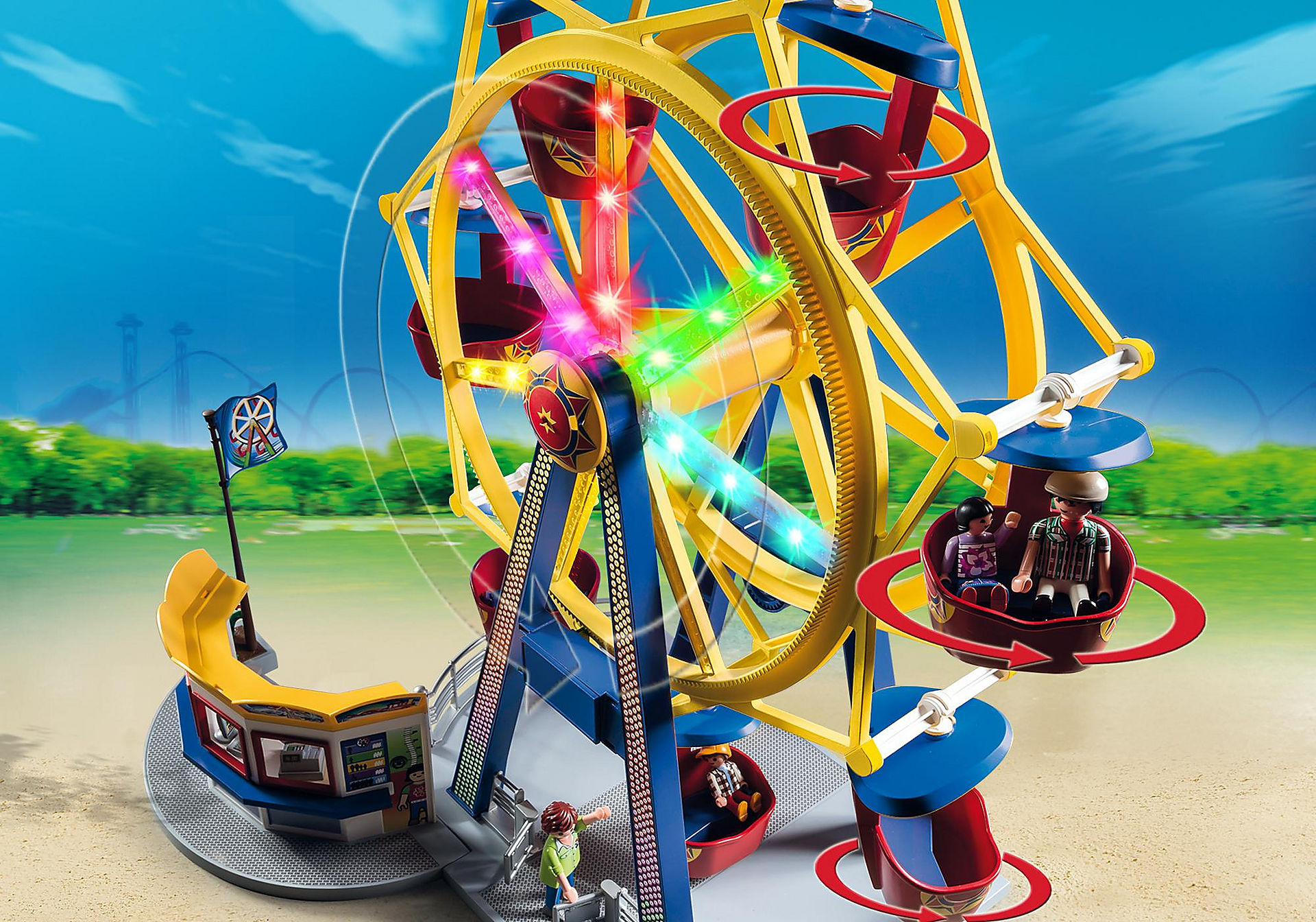 http://media.playmobil.com/i/playmobil/5552_product_extra3/Ferris Wheel with Lights