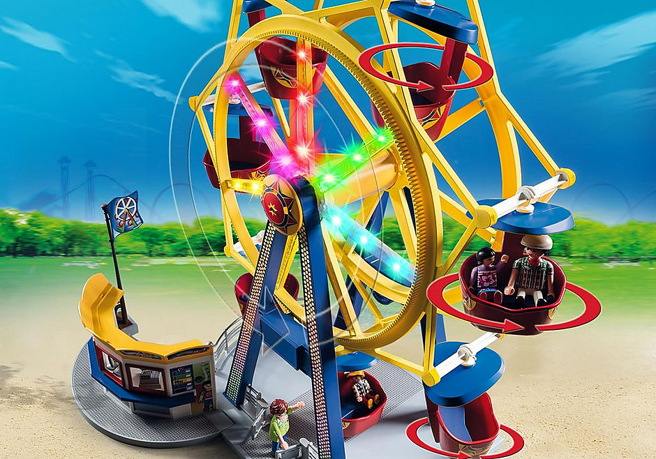 5552 Riesenrad mit bunter Beleuchtung detail image 6
