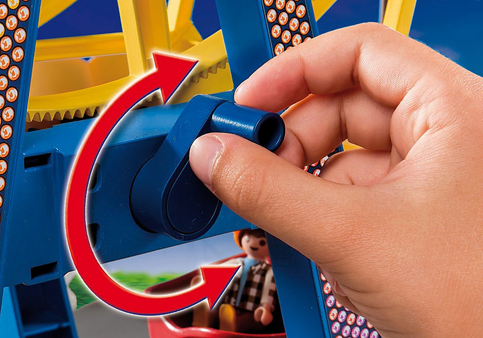 5552 Riesenrad mit bunter Beleuchtung detail image 7