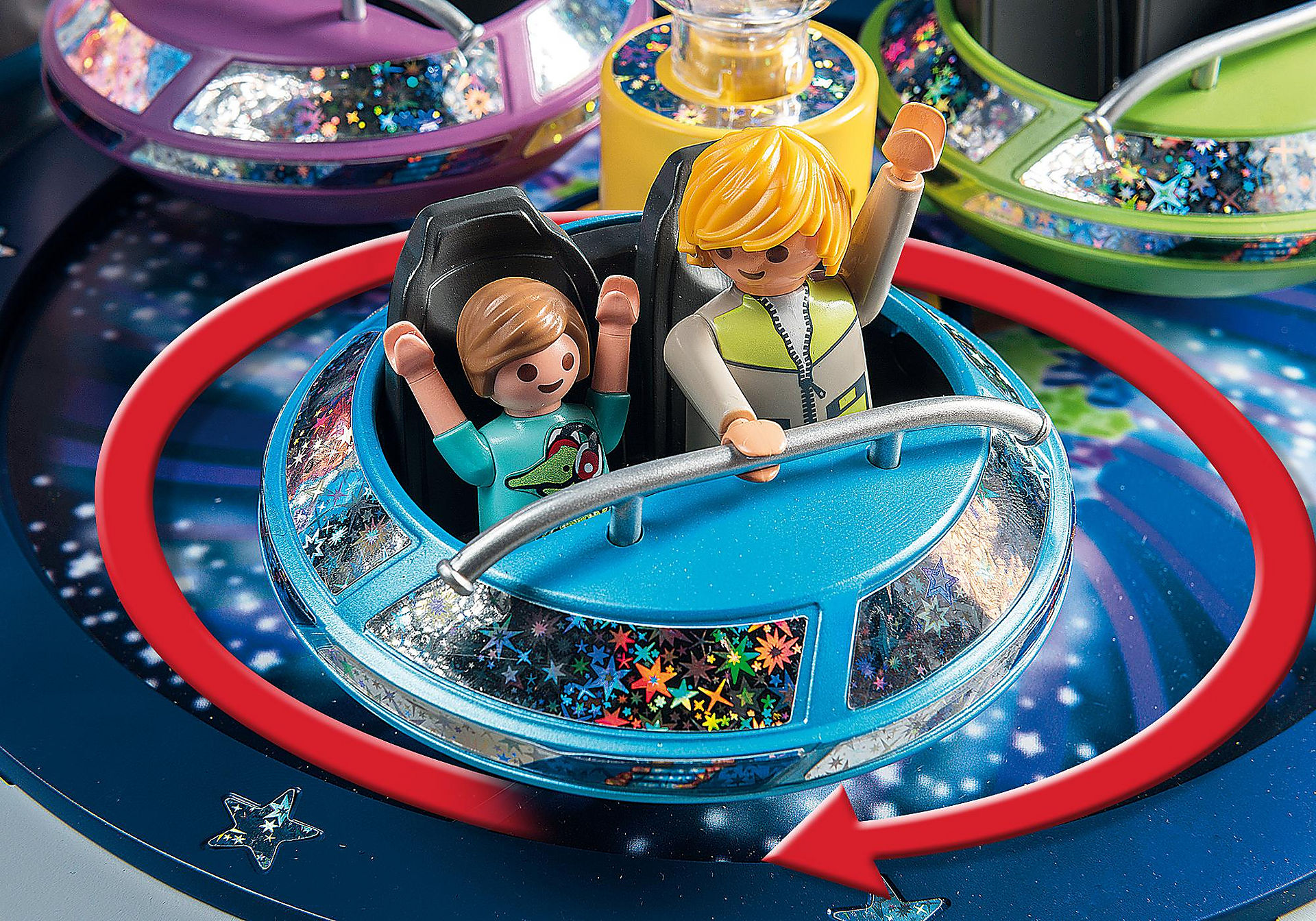 5554 Spinning Spaceship Ride with Lights zoom image4