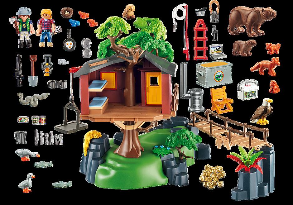 5557 Cabane des aventuriers dans les arbres detail image 4