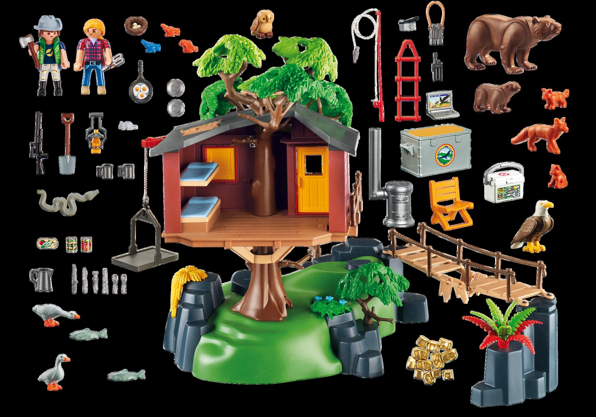 Cabane des aventuriers dans les arbres 5557 playmobil - Maison en bois playmobil ...