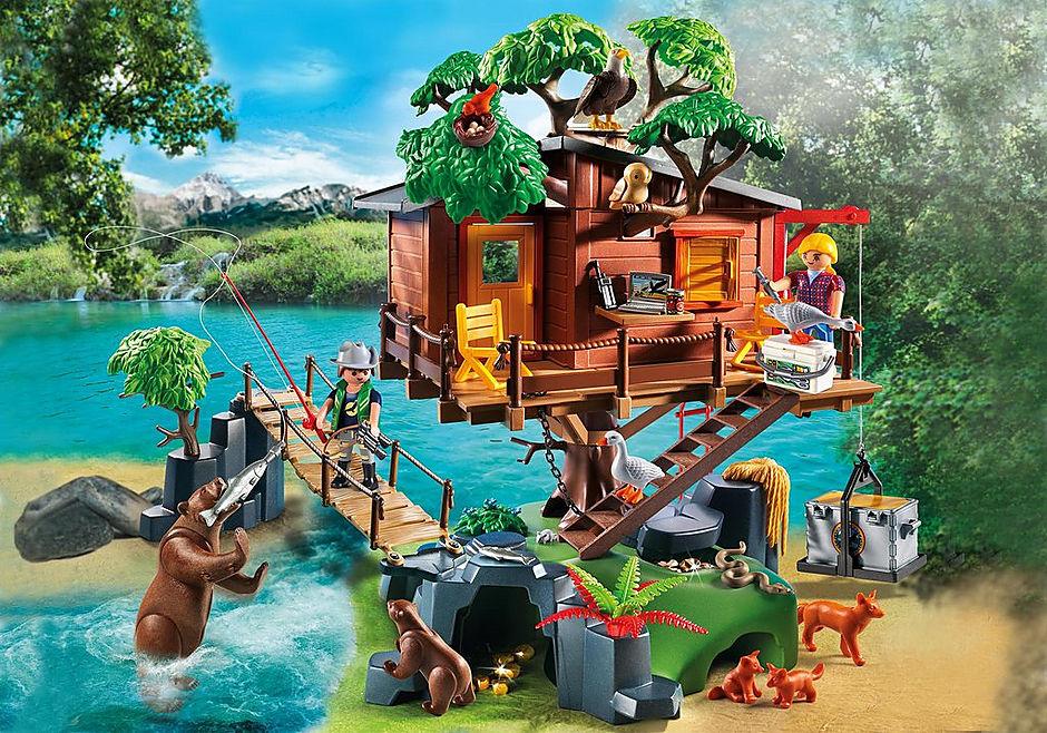 5557 Cabane des aventuriers dans les arbres detail image 1