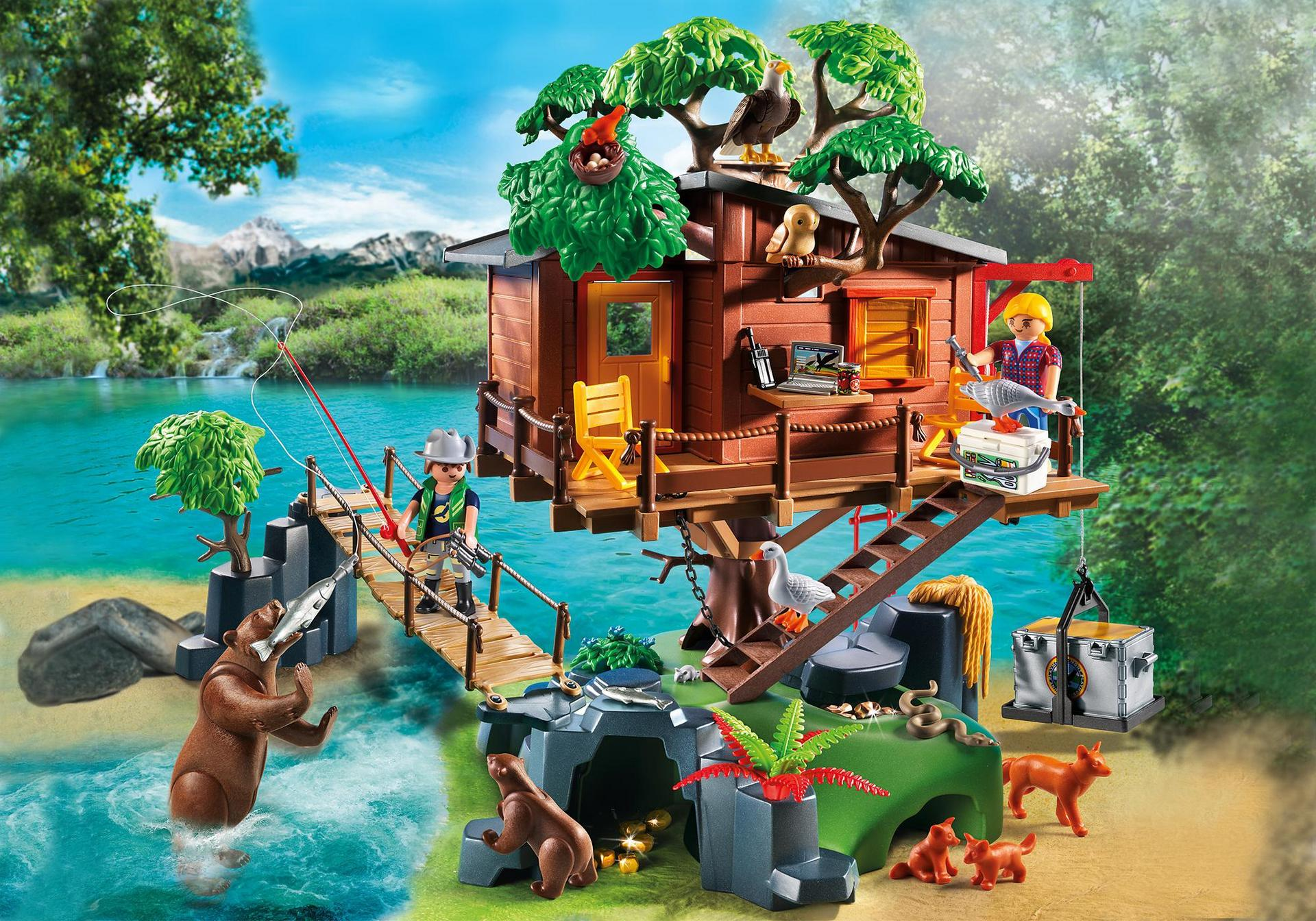 Ausmalbilder Playmobil Fairies : Adventure Tree House 5557 Playmobil