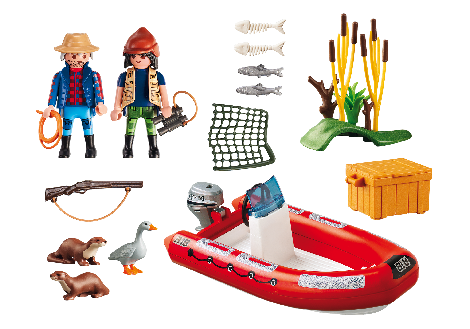 http://media.playmobil.com/i/playmobil/5559_product_box_back/Bote Hinchable con Exploradores