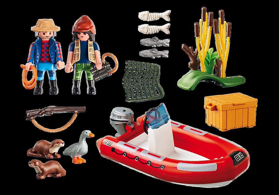 5559 Braconniers avec bateau  detail image 3
