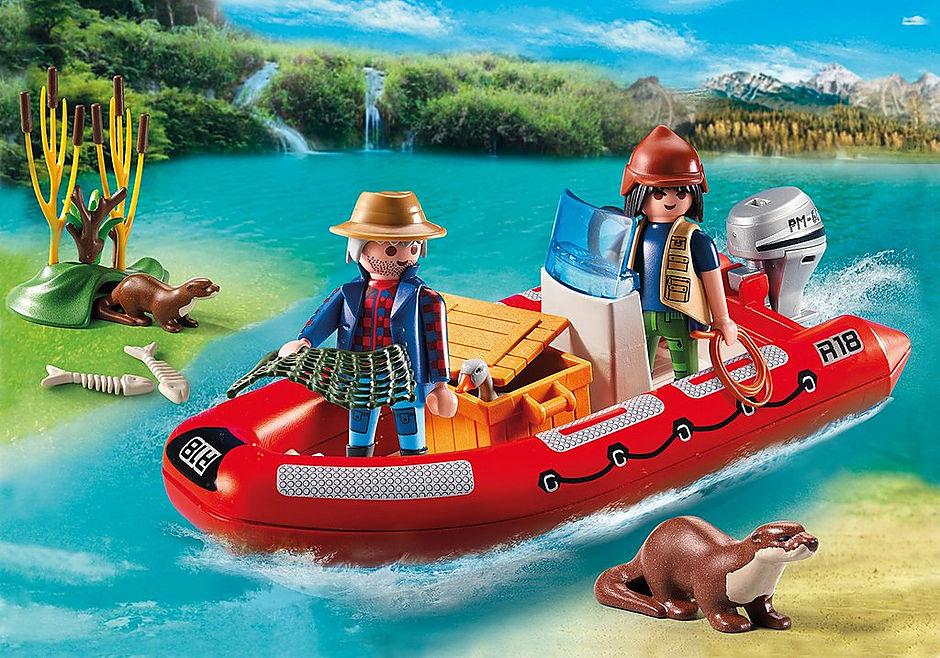 5559 Braconniers avec bateau  detail image 1
